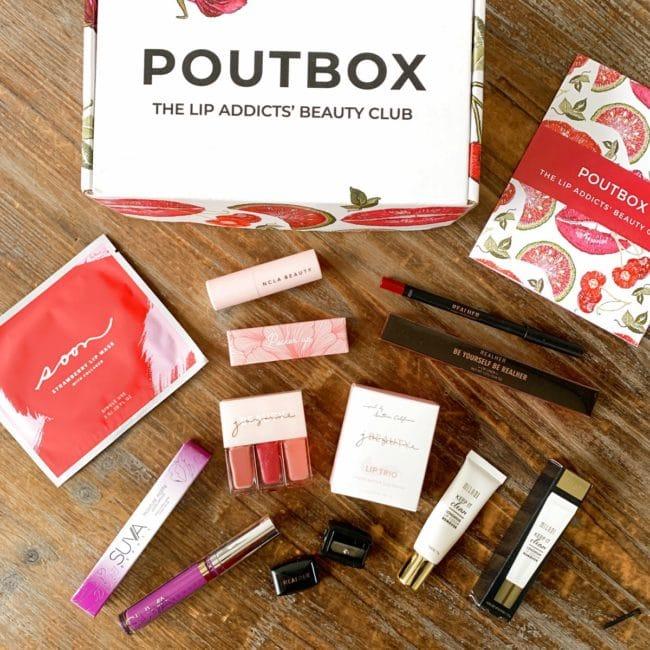 poutbox plus april 2021 review coupon
